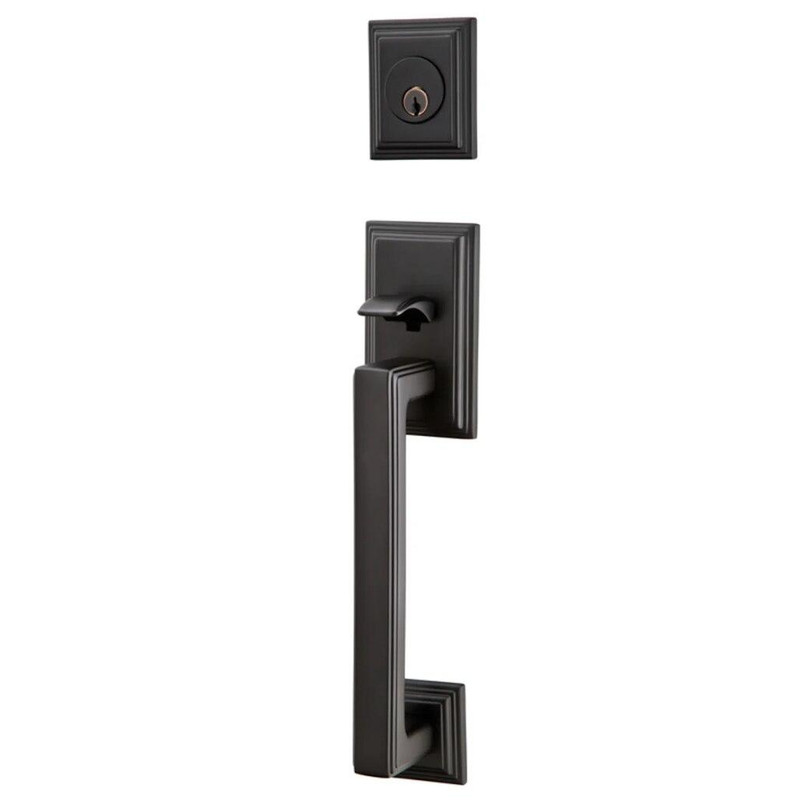Grand Entry Doors Tubular - Emtek Hamden Tubular Entryset - Available in Flat Black or Satin Nickel