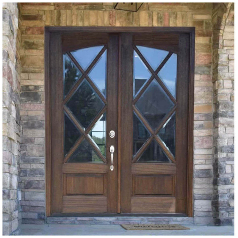 Miranda 7-Lite Square Top Single Entry Door With Arch Glass