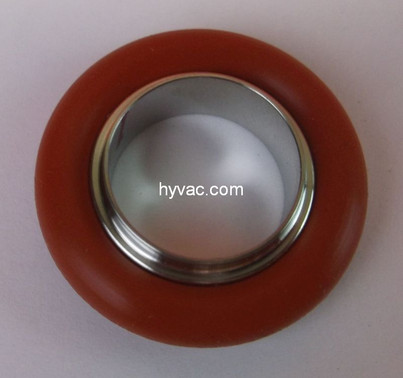 NW16 Centering Ring, 304 Stainless Steel, Silicone Oring