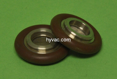 NW16 Centering Ring, 304 Stainless Steel, Filter Screen and Viton Oring