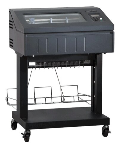 Dual branded Printronix P8000 Line Matrix Printer 500 lpm Open Pedestal, Low Paper Tray, Standard Emulations (P8P05-1213-0)