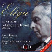 Elegie: In Memoriam Marcel Dupré