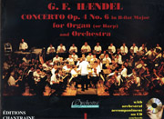 George Frideric Händel, Concerto in B-flat, Op. 4, No. 6 with orchestra on CD