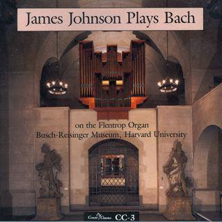 """James Johnson Plays Bach"" on the Flentrop organ,"