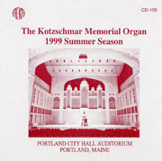 1999 Summer Concert Season, Kotzschmar Organ
