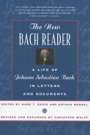 The New Bach Reader by H. T. David, A. Mindel, & Christoph Wolff