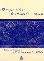 Baroque Music for Manuals, Volume 3
