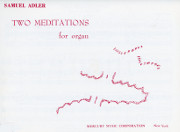 Adler, Samuel: Two Meditations Arioso and Pastorale