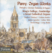 Sir Hubert Parry Organ Works