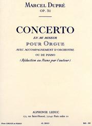 Marcel Dupré, Concerto in e minor, opus 31