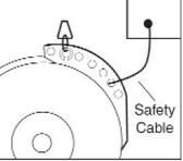 """Reelcraft 12"""" Safety Cable"""