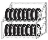 "RiveTier 05WMTR 5' x 2' x 4'6"" Wall Mount Tire Rack"