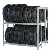 "Rivetier R2-2DES 5' x 3'6""' x 5' Automotive Tire Rack Starter"
