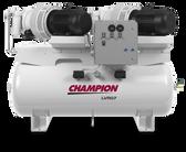 Champion LVR07PDRHS-12 10HP Horz Duplex Rotary Vane Compressor