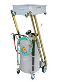 Raasm 30.4-Gallon Heavy-Duty Truck Waste Oil Evacuator with Cantilever Basi