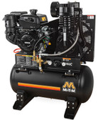 Mi-T-M ABS-14K-30H 30 Gal. Tank-Mounted Kohler Two Stage Gasoline Compressor
