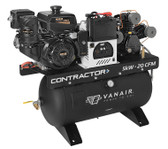 Vanair Contractor 050713 20 CFM, 8kW, Skid Mount, Electric Start, 14 HP Kohler Air Compressor