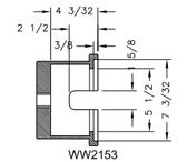 Kiene WW2153 Steering Axle & Euclid Trailer Socket
