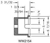 Kiene WW2154 Tapered Spindle Trailer Socket
