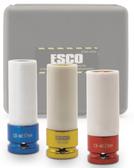 ESCO 40306 1/2 in. Drive 3-Piece Metric Extra Thin Wall Deep Wheel Protector Impact Socket Set
