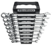 GearWrench 85798 8 Pc. 12 Point SAE XL Locking Flex Ratcheting Wrench Set