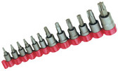 OTC 6100 12 pc. 1/4, 3/8 and 1/2 Square Dr. Bulletproof Torx Bit Socket Set