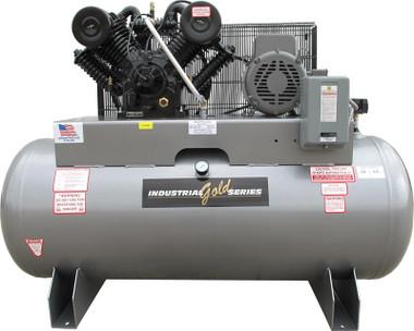 Industrial Gold CI1021E120H-P Platinum Series 10 HP 1 Phase Horizontal Tank Air Compressor
