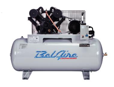 BelAire 6312H 4HP, 460V, 3 PH, 120 Gal, Iron Series Piston Compressors