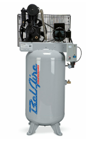 Bel Aire 438VE 5 HP, 208-230V, 3PH, 80V Gal Iron Series Piston Compressors