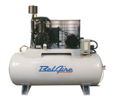 BelAire 338HL4 7.5HP, 460 3PH, 80H Gal Two Stage Electric Air Compressors