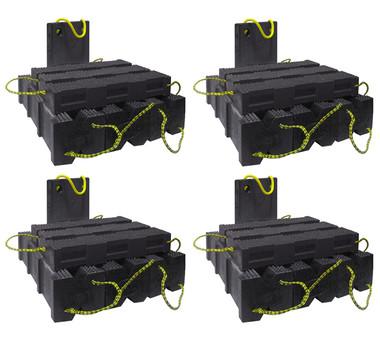AME 15252 Super Stacker Cribbing Blocks   4 Kits