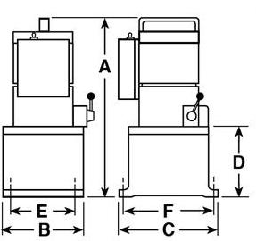 Vanguard Jr 4031 115V Two-Stage High-Pressure Power Unit OTC