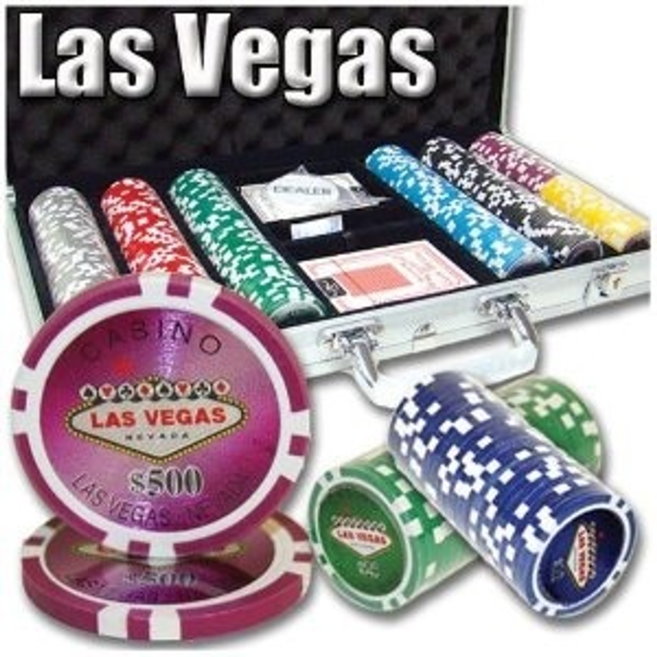 Poker Chip Set Las Vegas 300pc 11.5g with Carry Case & FREE OFFER