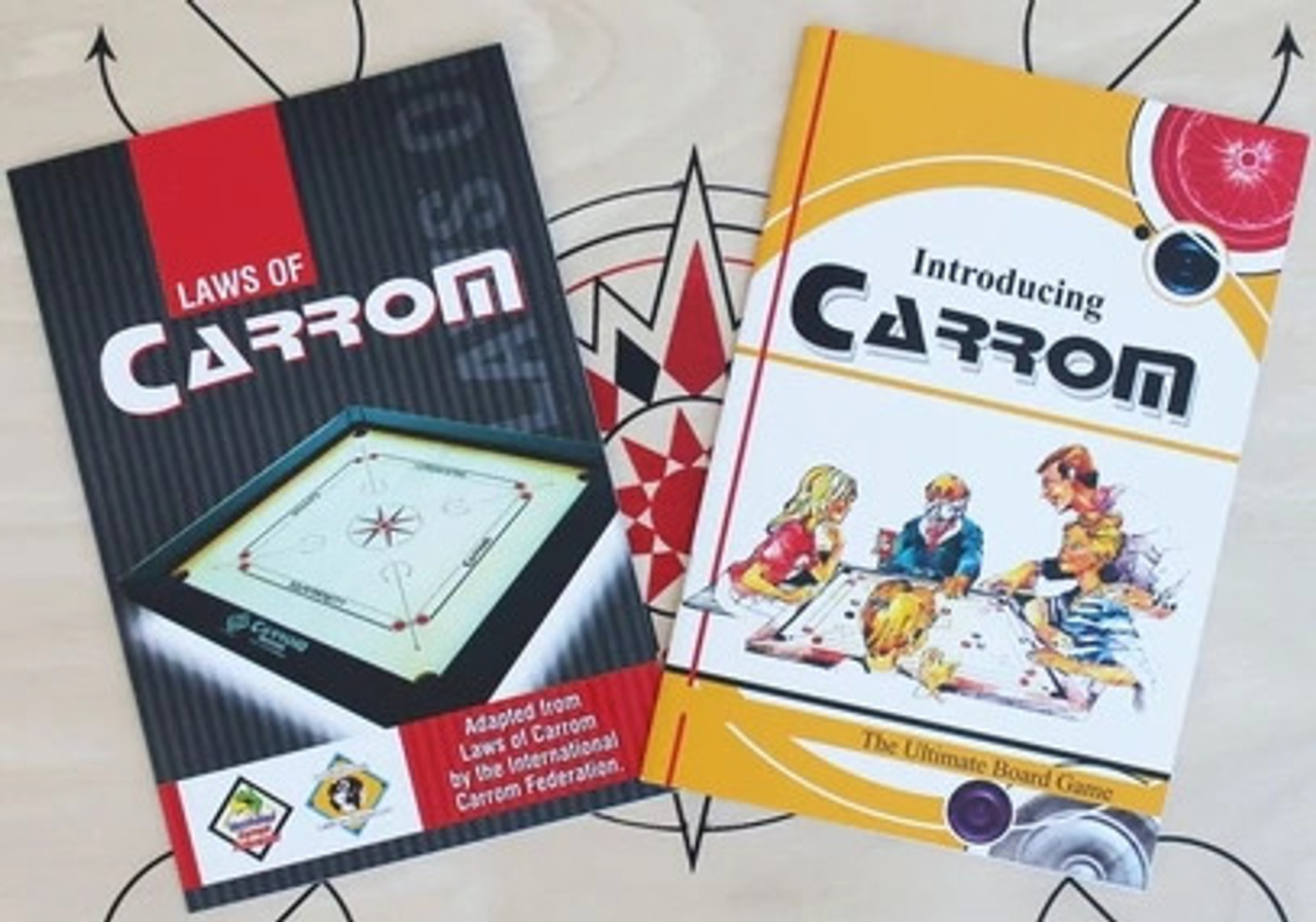Carrom Classic Playing Accessories Set & Bonus Carrom Handbook