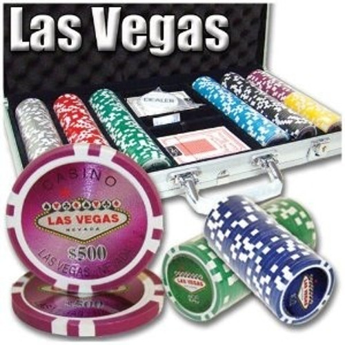 Las Vegas Casino 11.5g Poker Chip 300 pc Set with Case & FREE OFFER