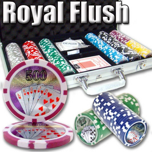 Poker Chip Set Royal Flush 300pc 11.5g with Case & FREE OFFER