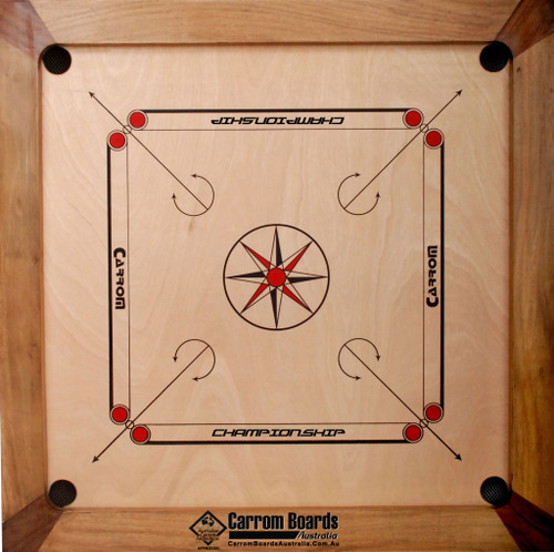 Carrom Board CHAMPIONSHIP NATURAL, Stand & SPECIAL PACKAGE OFFER