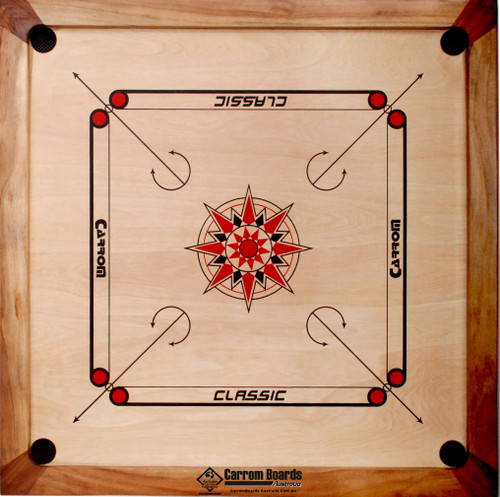 Carrom Board 84cm x 84cm CLASSIC &  FREE PACKAGE OFFERS