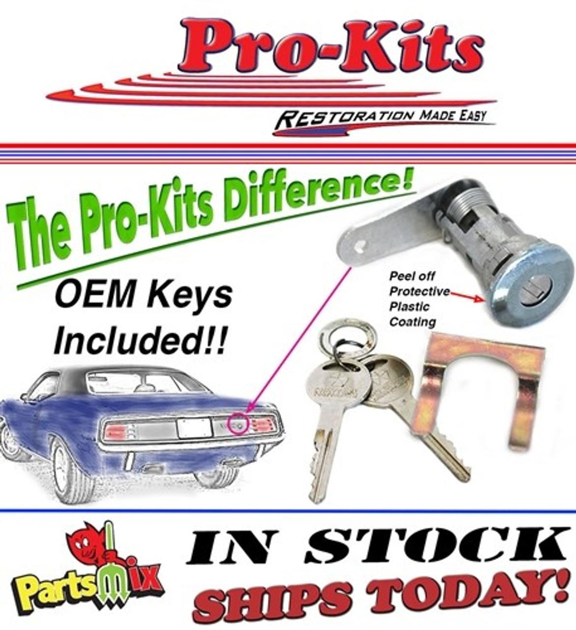 70 72 Cuda Trunk Deck Lid Lock Cylinder Key