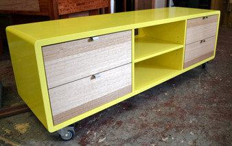 Hi Fi Cabinet 3 column, 4 drawers