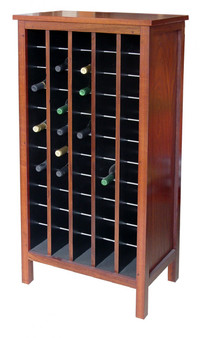 Wine cabinet, 5x11 Jarrah, traditional