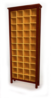 Cd Cabinet, 4x11, Jarrah and Clear, Traditional