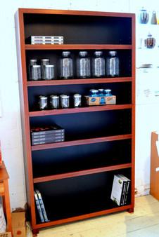 Bookcase, Jarrah and Black, Barbi