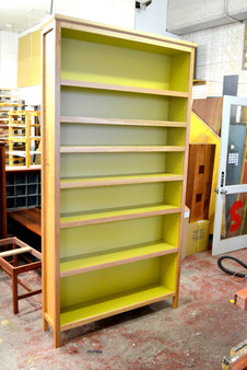 Bookcase, Extra Large, Feature Ash and New Green