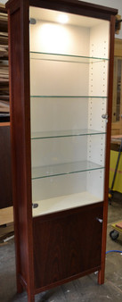 Display Cabinet, Jarrah and white