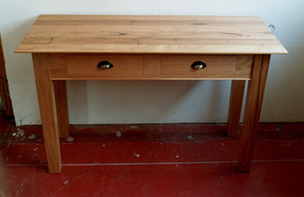 Ash kitchen bench with drawers