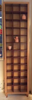 3x12 CD cabinet, Ash with Jarrah interior, barbi