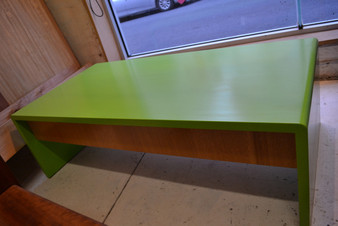 Coffee table with drawers, two pack green with ash