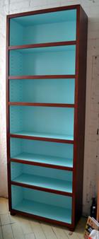 Bookcase, Redgum with quartz blue interior, barbi