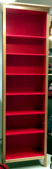 Bookcase, Tall and Slim, Ash with red interior, traditional